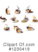 Coffee Clipart #1230419 by Vector Tradition SM