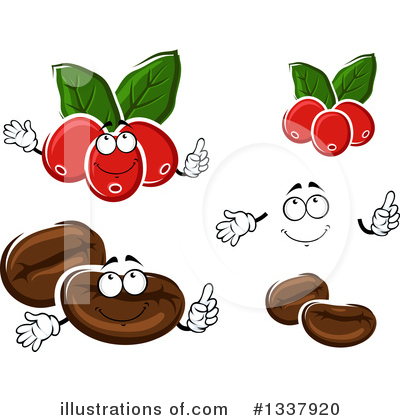 Coffee Berry Clipart #1337920 by Vector Tradition SM