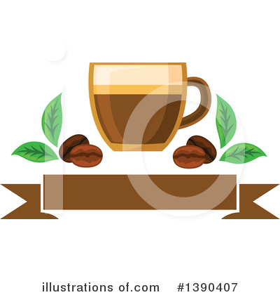 Coffee Beans Clipart #1390407 by Vector Tradition SM