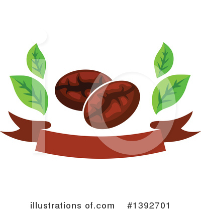 Coffee Beans Clipart #1392701 by Vector Tradition SM