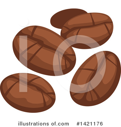 Coffee Beans Clipart #1421176 by Vector Tradition SM