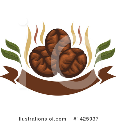 Coffee Beans Clipart #1425937 by Vector Tradition SM