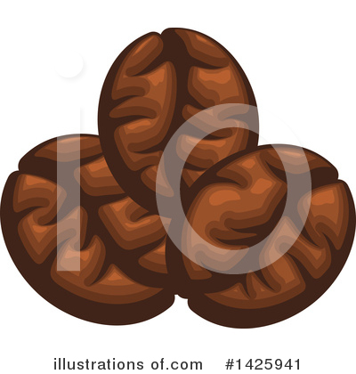 Coffee Beans Clipart #1425941 by Vector Tradition SM