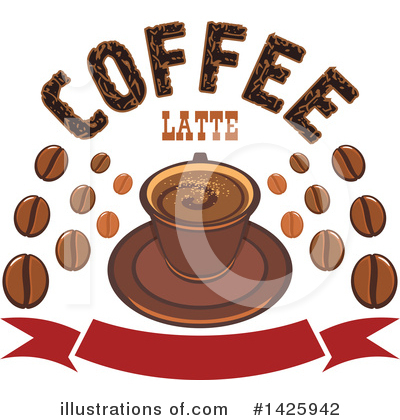 Coffee Beans Clipart #1425942 by Vector Tradition SM