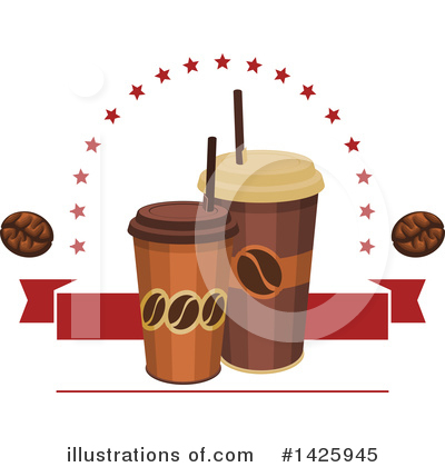 Coffee Bean Clipart #1425945 by Vector Tradition SM