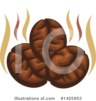 Coffee Beans Clipart #1425953 by Vector Tradition SM