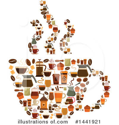 Coffee Beans Clipart #1441921 by Vector Tradition SM