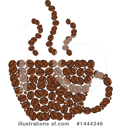 Coffee Beans Clipart #1444346 by Vector Tradition SM