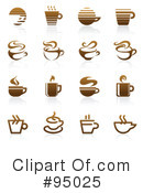 Royalty-Free (RF) Coffee Logo Clipart Illustration #95025
