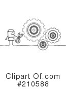 Royalty-Free (RF) cogs Clipart Illustration #210588
