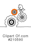 Royalty-Free (RF) Cogs Clipart Illustration #210590