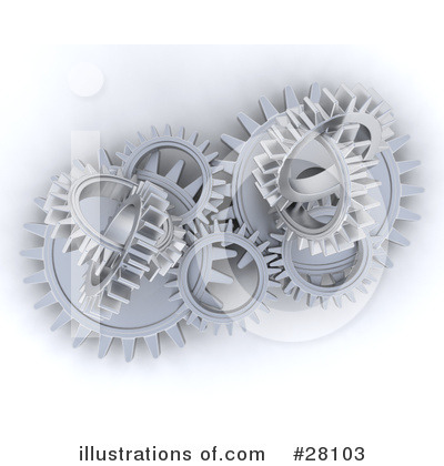 Gears Clipart #28103 by KJ Pargeter