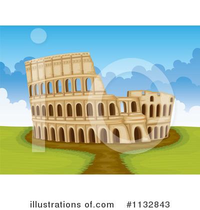 Coliseum Clipart #1132843 - Illustration by Graphics RF
