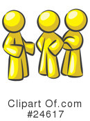 Colleagues Clipart #24617 by Leo Blanchette