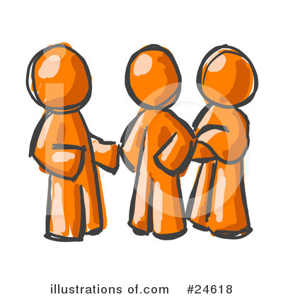 Colleagues Clipart #24618 by Leo Blanchette
