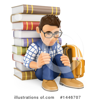 College Student Clipart #1446707 by Texelart