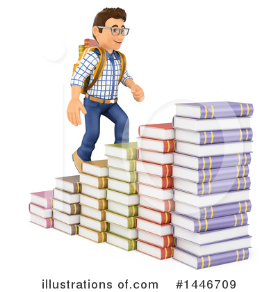 College Student Clipart #1446709 by Texelart