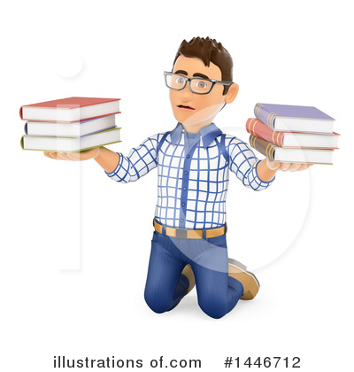 College Student Clipart #1446712 by Texelart