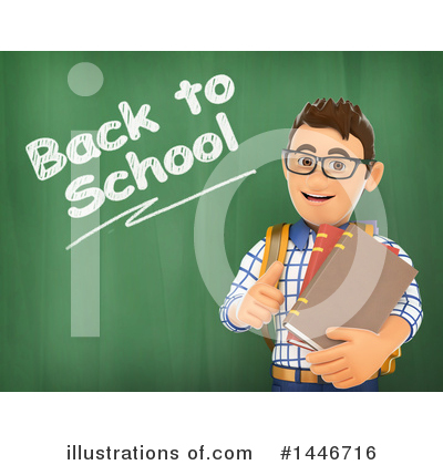 College Student Clipart #1446716 by Texelart