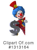 Colorful Clown Clipart #1313164 by Julos