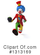 Colorful Clown Clipart #1313169 by Julos