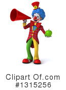 Colorful Clown Clipart #1315256 by Julos
