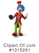 Colorful Clown Clipart #1315261 by Julos