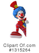 Colorful Clown Clipart #1315264 by Julos