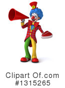 Colorful Clown Clipart #1315265 by Julos