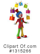 Colorful Clown Clipart #1315266 by Julos