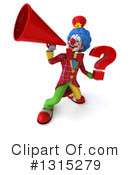 Colorful Clown Clipart #1315279 by Julos