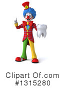 Colorful Clown Clipart #1315280 by Julos