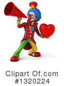 Colorful Clown Clipart #1320224 by Julos