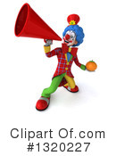 Colorful Clown Clipart #1320227 by Julos