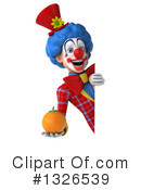 Colorful Clown Clipart #1326539 by Julos