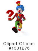 Colorful Clown Clipart #1331276 by Julos