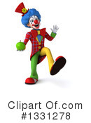 Colorful Clown Clipart #1331278 by Julos