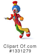 Colorful Clown Clipart #1331279 by Julos