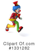 Colorful Clown Clipart #1331282 by Julos