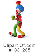 Colorful Clown Clipart #1331285 by Julos