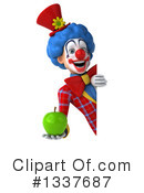Colorful Clown Clipart #1337687 by Julos