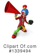 Colorful Clown Clipart #1339494 by Julos