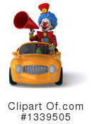 Colorful Clown Clipart #1339505 by Julos