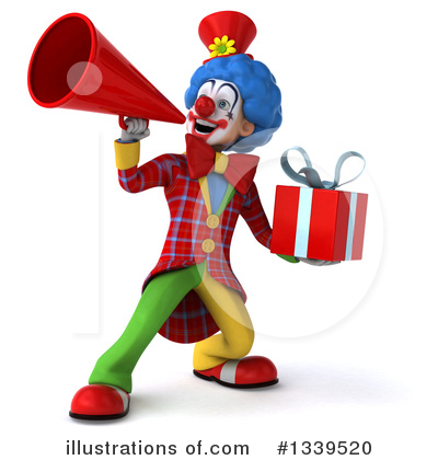 Royalty-Free (RF) Colorful Clown Clipart Illustration by Julos - Stock Sample #1339520