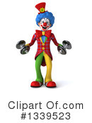 Colorful Clown Clipart #1339523 by Julos