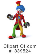 Colorful Clown Clipart #1339524 by Julos