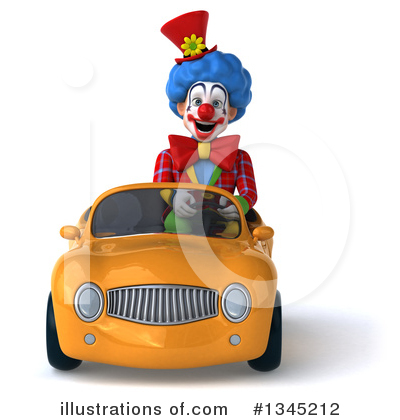 Colorful Clown Clipart #1345212 by Julos