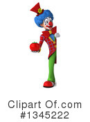 Colorful Clown Clipart #1345222 by Julos