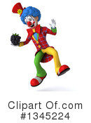 Colorful Clown Clipart #1345224 by Julos