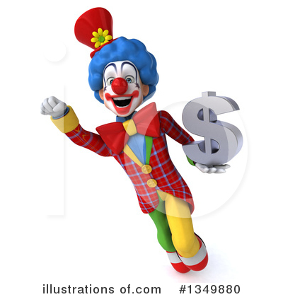Colorful Clown Clipart #1349880 by Julos